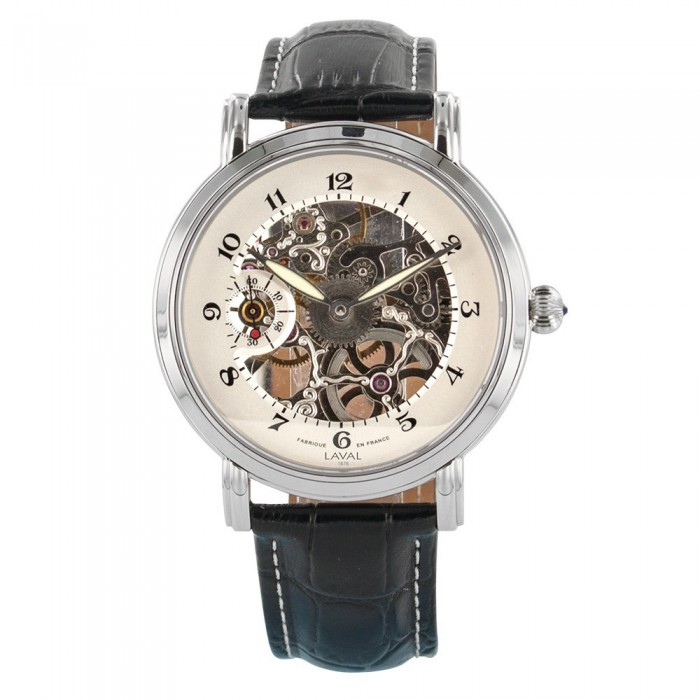 Mechanical watch skeleton LAVAL 1878 steel case, sapphire 755219 Laval 1878 499,00 €
