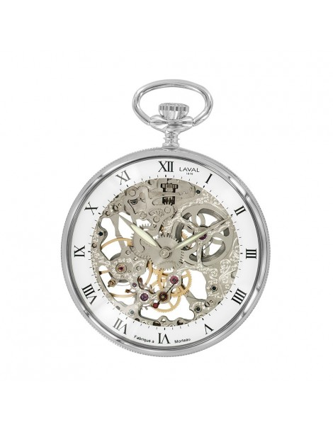 Laval 1878 mechanical clock and skeleton watch, silver 755245 Laval 1878 299,00€