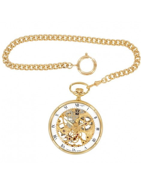 Laval 1878 clock and mechanical skeleton watch, golden yellow 755244 Laval 1878 299,00€