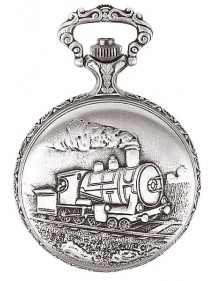 LAVAL pocket watch, palladium with locomotive cover 755168 Laval 1878 99,00 €