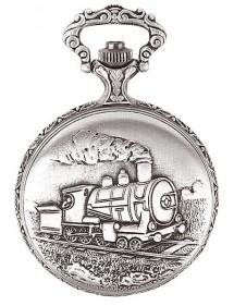 Montre de poche LAVAL en palladium avec couvercle motif locomotive 99,00€ 99,00€