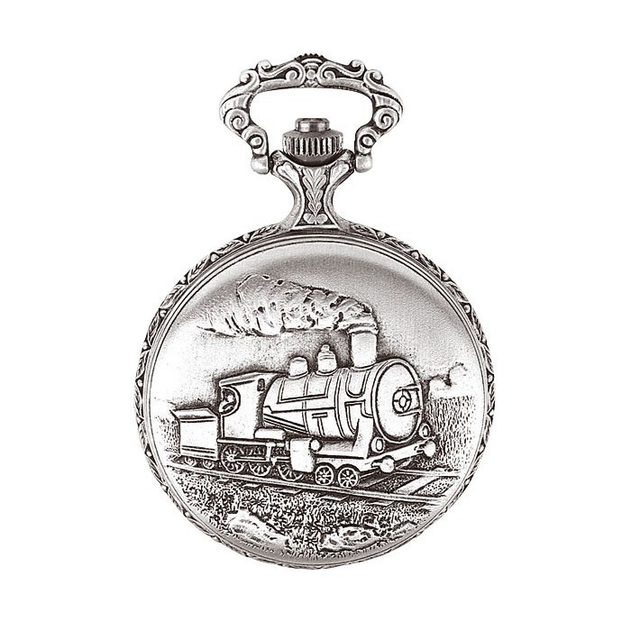 LAVAL pocket watch, palladium with locomotive cover 755168 Laval 1878 129,90€