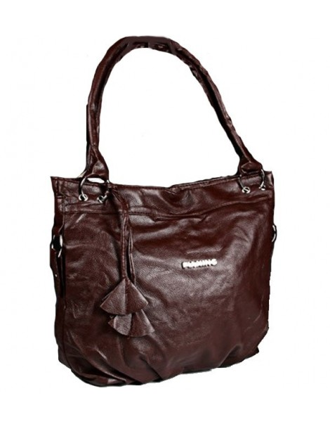 Vintage handbag 42 x 32 cm - Chocolate color 38428 Paris Fashion 19,90€