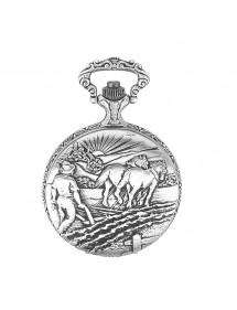 Reloj de bolsillo LAVAL, paladio con tapa y diseño de arado. 755015 Laval 1878 129,90€
