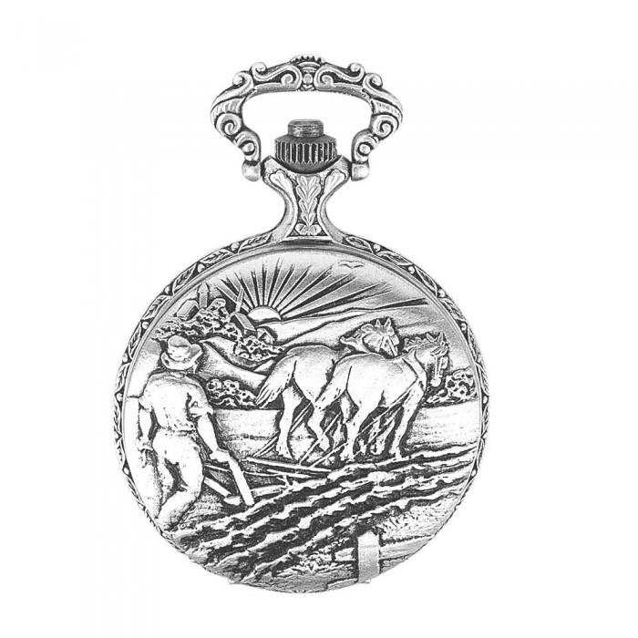 LAVAL pocket watch, Palladium with lid and plow pattern 755015 Laval 1878 129,90€