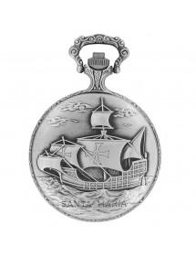 Montre de poche LAVAL en palladium avec couvercle motif voilier 99,00€ 99,00€