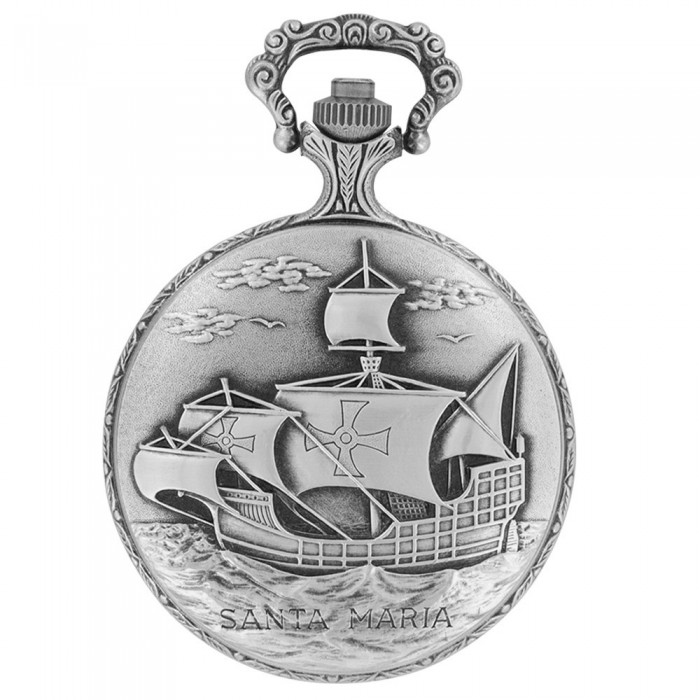 LAVAL pocket watch, palladium with sailboat motif cover 755258 Laval 1878 129,90€