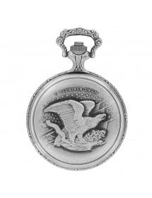Montre de poche LAVAL en palladium avec couvercle motif moto 99,00€ 99,00€
