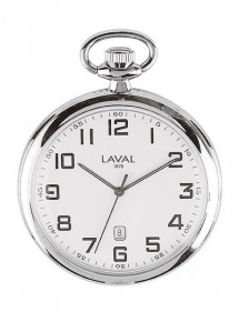 LAVAL pocket watch, chrome with Arabic numerals and minute display 755315 Laval 1878 89,00 €