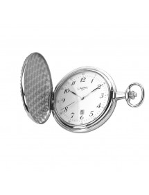 Montre de poche LAVAL, laiton argenté motif recto/verso avec chaîne 149,00€ 149,00€
