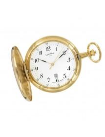 Montre de poche LAVAL en laiton doré motif recto/verso avec chaîne 149,00€ 149,00€