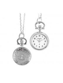 Montre pendentif motif fleur chiffres arabes et 2 aiguilles 750319 Laval 1878 89,00€