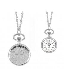 Montre pendentif à chiffres romains et motif cœur Laval 1878 99,00€ 99,00€