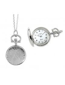 Montre pendentif argentée motif médaillon chiffres romain 750289 Laval 1878 124,00€