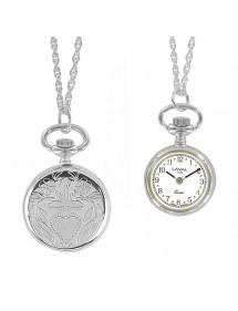 Montre pendentif argenté pour femme 2 aiguilles et motif cœur 755023 Laval 1878 89,00€