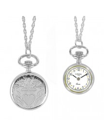 Watch silver pendant Women 2 needles and heart pattern 755023 Laval 1878 89,00 €