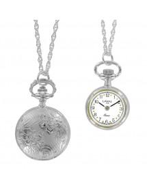 Montre pendentif deux aiguilles et motif en forme de fleurs 89,00€ 89,00€