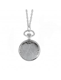 Silver pendant watch with...