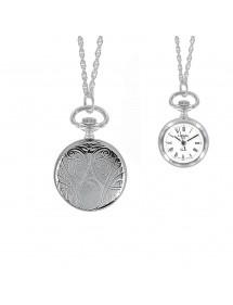 Montre pendentif motif médaillon argenté pour femme 89,00€ 89,00€