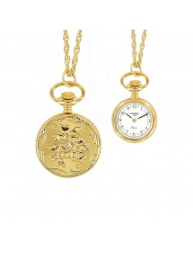 yellow pendant watch two needles and pattern 3 flowers 750332 Laval 1878 99,00 €