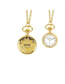 Montre pendentif doré 2 aiguilles et motif cœur 750325 Laval 1878 99,00€