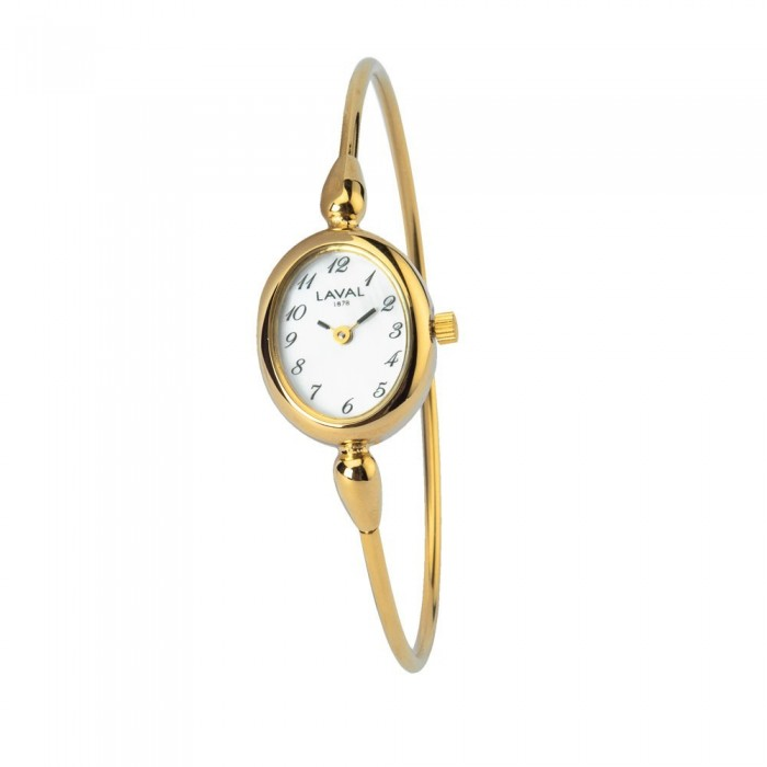 Women's round gilt watch with gold oval dial 129,00 € 129,00 €