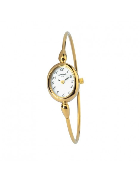 Women's round gilt watch with gold oval dial 754638 Laval 1878 129,00 €