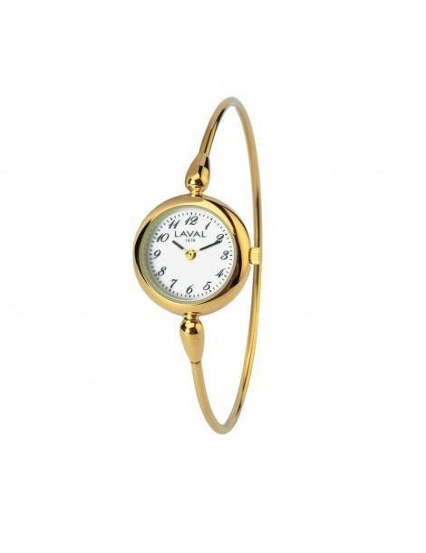 Montre tour de bras pour femme à cadran rond doré 754634 Laval 1878 129,00€