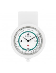 nurse watch white and green clip Laval 1878 750349 Laval 1878 59,90 €