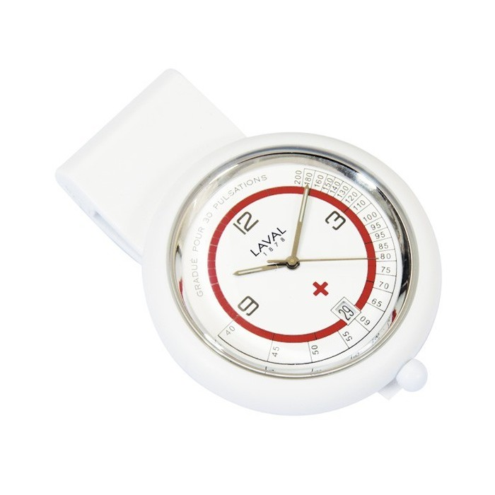 nurse watch with white and red clip Laval 1878 750355 Laval 1878 59,90 €