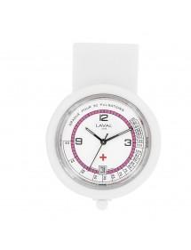 Montre infirmière à clip blanche et rose Laval 1878 59,90€ 59,90€