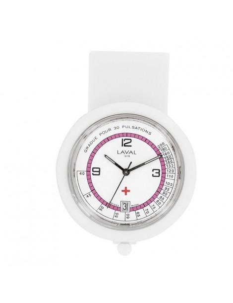 Nurse watch Laval 1878 - Clip plastic pink 750357 Laval 1878 59,90€