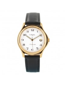 Montre automatique boîtier doré et bracelet synthétique noir Laval 1878 159,00€ 159,00€