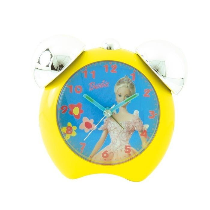 Réveil Barbie pour petite fille avec 2 cloches, couleur jaune 800105 Barbie 14,90€
