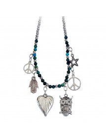 Magnificent necklace in metal and glass H38 80102 Laval 1878 12,90€