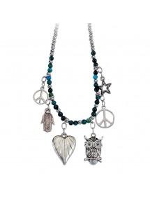 Magnifique collier en métal et verre  12,90€ 12,90€