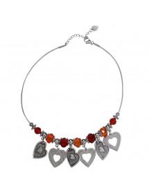 Collier cœurs en métal et verre  16,90€ 16,90€