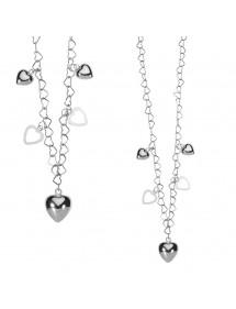 Collana originale con cuori in argento rodiato 3170489 Laval 1878 29,90€