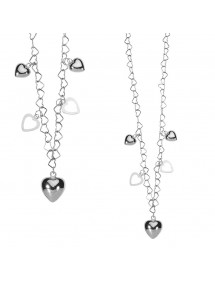 Original necklace with rhodium silver hearts 3170489 Laval 1878 29,90 €