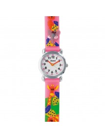 DOMI educational watch, giraffe pattern, pink synthetic bracelet 753952 DOMI 32,90 €