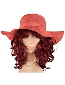 Chapeau rouge en polyester uni