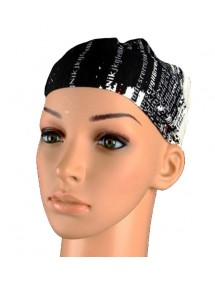 Stirnband Alphabet schwarz, rot, grau und weiß 46953 Paris Fashion 2,50€