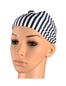 Blue and white headband Marine