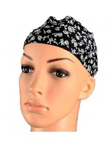 Black headband with white...