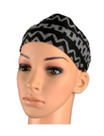 Schwarz und Grau Stirnband 46949 Paris Fashion 2,50€
