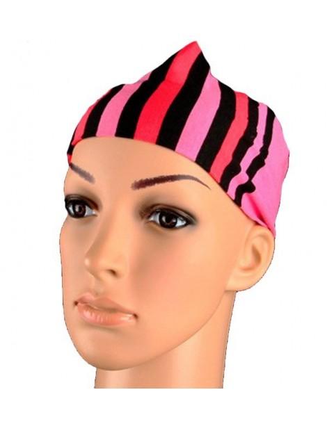 Bandeau à rayures noir, rose et corail 46936 Paris Fashion 2,50€