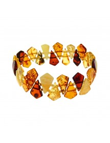 Amber elastic bracelet with pointed stones 3180556 Nature d'Ambre 62,00 €