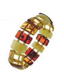 Bracelet élastique pierres taillées en forme rectangulaire 3180542 Nature d'Ambre 52,00€