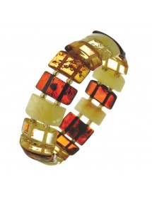 Elastic bracelet with amber stones cut in rectangular shape 3180542 Nature d'Ambre 62,00 €