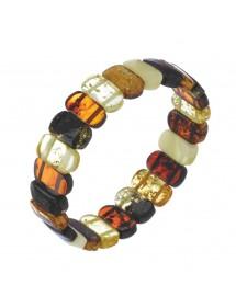 Bracelet élastique en ambre rectangle arrondie Nature d'Ambre 3180435 Nature d'Ambre 87,00€